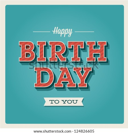 happy birthday card retro