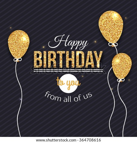 Happy Birthday card template. Vector eps 10 format.