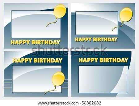 Happy Birthday Card Templates Stock Vector 56802682 : S