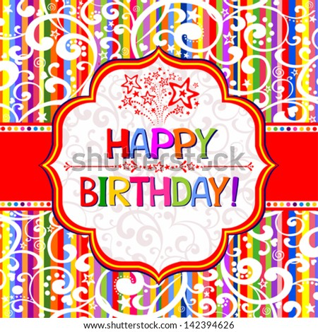 Happy birthday card template blank free vector download 25269 – Happy Birthday Card Template Free Download