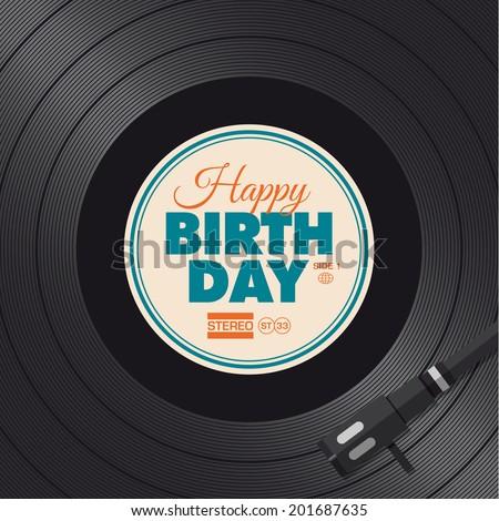 happy birthday card vinyl