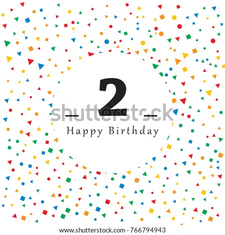 happy 2 birthday card with