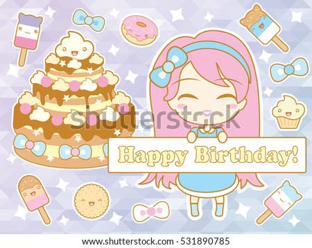 happy birthday card with cute