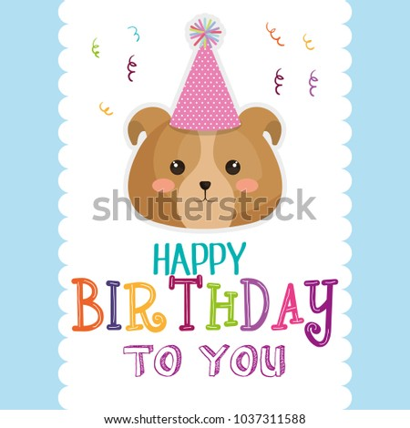 Happy Birthday Card With Dog Ez Canvas