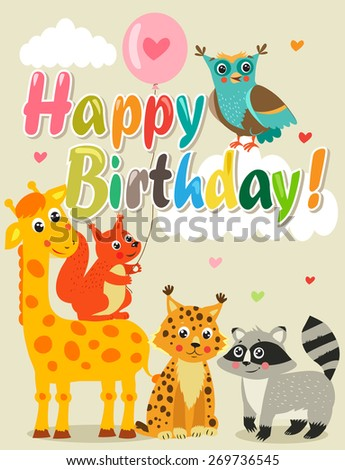 happy birthday card with funny