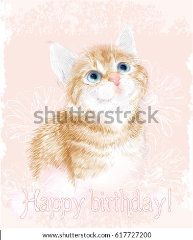 happy birthday card with little