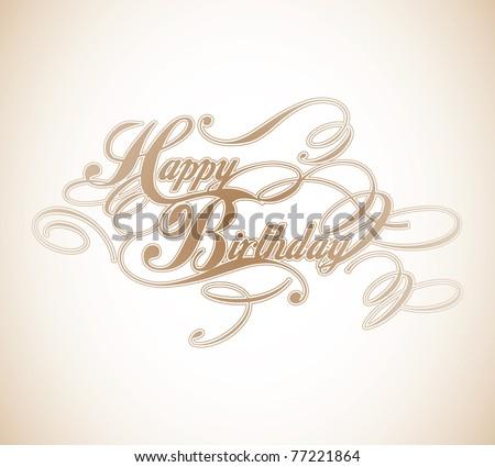 Happy Birthday Classic Calligraphy Design