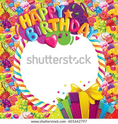 happy birthday color vector