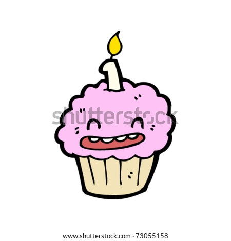 Happy Birthday Cakes on Happy Birthday Cup Cake Cartoon Stock Vector 73055158   Shutterstock