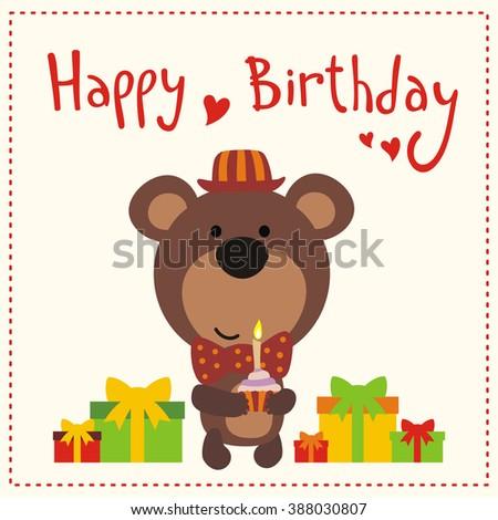 Shutterstock Mobile RoyaltyFree Subscription Photography – Birthday Card Bear