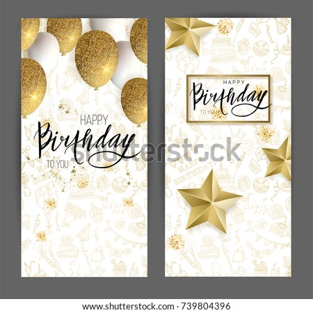 stock-vector-happy-birthday-design-white-and-golden-glitter-balloons-or-golden-stars-and-calligraphy-on-the