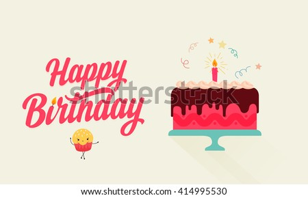 Birthday Cake Graphics Download Free Vector Art Stock Graphics - Graphic birthday cake