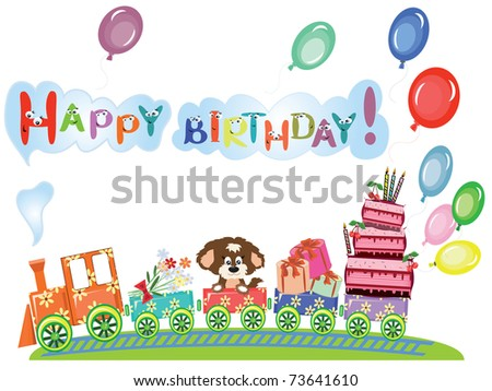 happy birthday funny pictures. stock vector : Happy birthday,