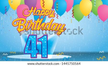 happy birthday 41 greeting card