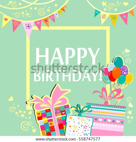 Happy Birthday Card Download Free Vector Art Graphics – Latest Birthday Greeting Cards