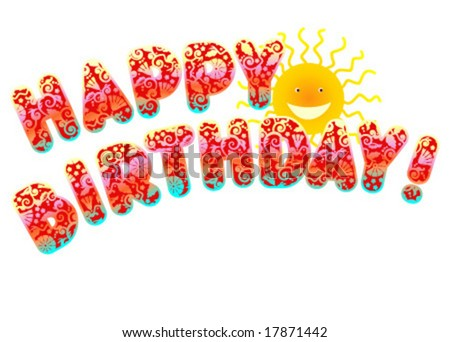 happy birthday cartoon cards. stock vector : Happy birthday