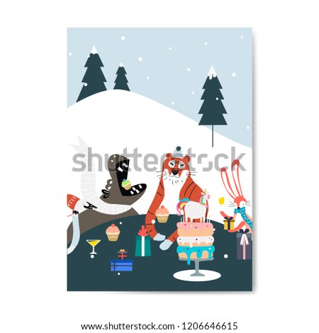 Stock Photo Happy Birthday greeting card vector