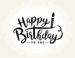 Happy Birthday greeting card with lettering design