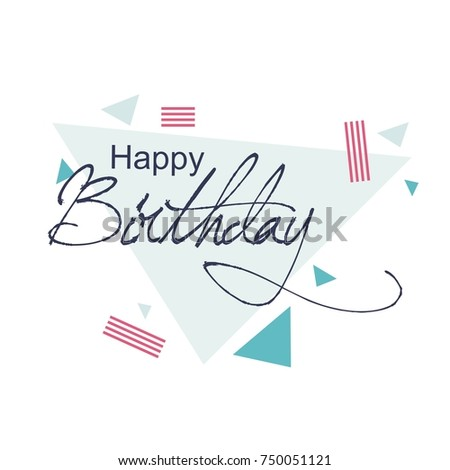 Happy Birthday greeting card with lettering design #750051121
