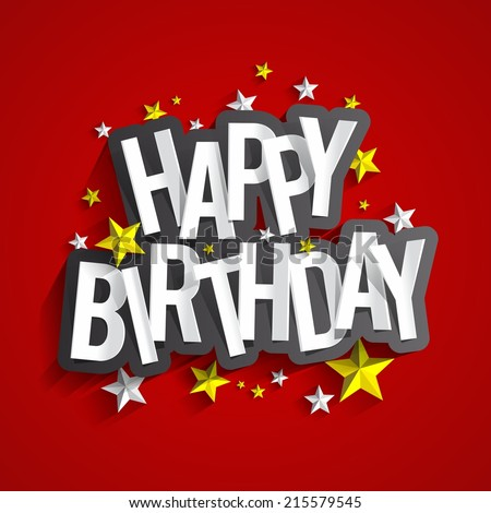 Happy Birthday Greeting Cards Vector Illustration