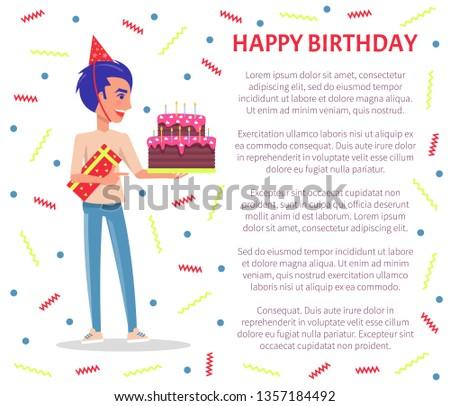 happy birthday greeting poster