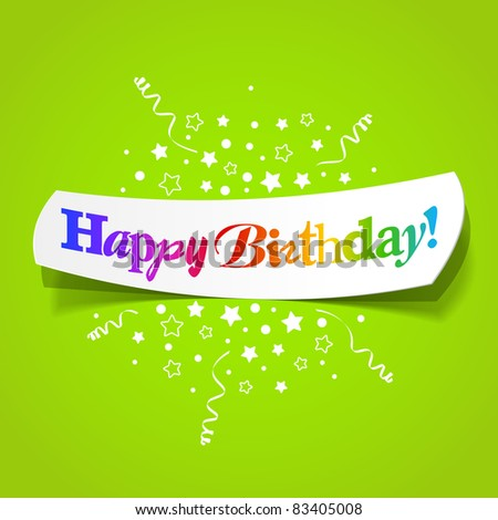 Happy birthday greetings. Vector.