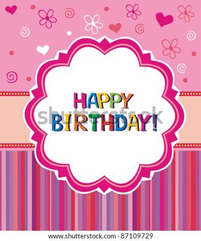 Happy birthday greetings. Vector.