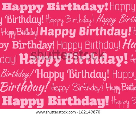 Happy Birthday - Grouped collection of different Happy Birthday text