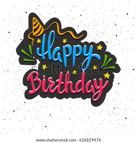 Vector Images Illustrations And Cliparts Happy Birthday Lettering