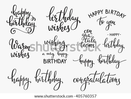 Simple Happy Birthday Greeting Design Download Free Vector Art