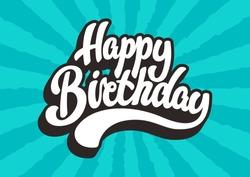 Happy Birthday lettering text
