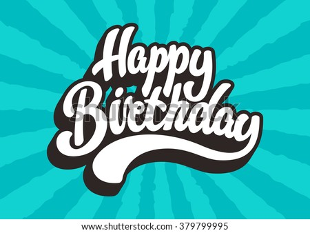 Happy Birthday lettering text