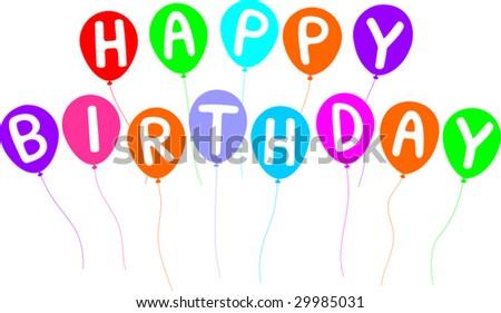 Happy Birthday Letters On Balloons Stock Vector 2998503