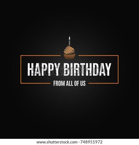 happy birthday logo design background