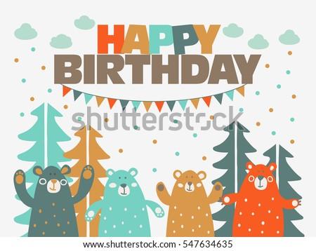 happy birthday   lovely vector
