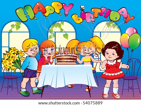 happy birthday pictures for facebook. stock vector : Happy birthday