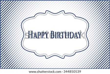 Happy Birthday retro style card, banner or poster