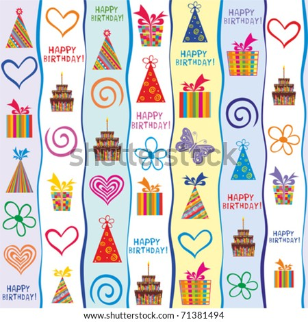 happy birthday. seamless wrapping paper