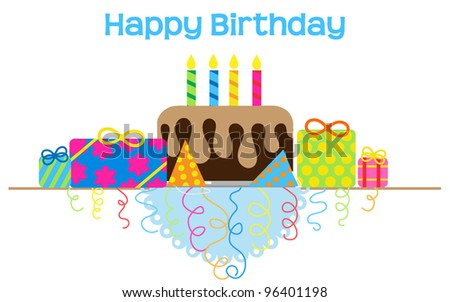Happy Birthday Table Vector