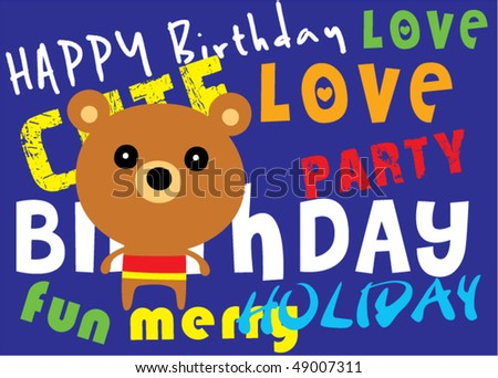 happy birthday cartoon images. happy birthday cartoon bear