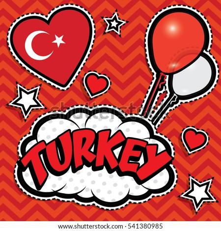 happy birthday turkey   pop art