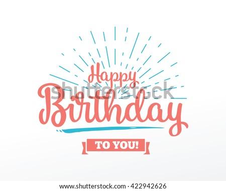 happy birthday typographic