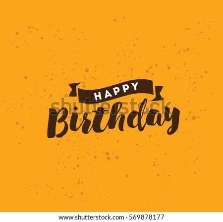 happy birthday typography for