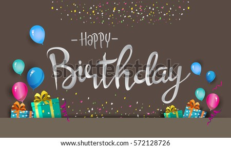 typographic birthday greeting illustration download free vector