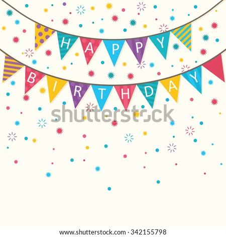 Happy Birthday - vector birthday card, party invitation, banner, eps10