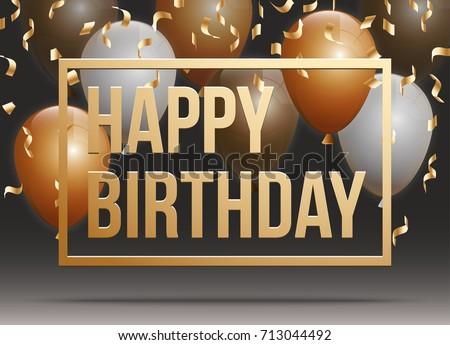 Typographic Birthday Greeting Illustration Download Free Vector