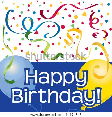 Birthday Party Clip Art. stock vector : Happy Birthday
