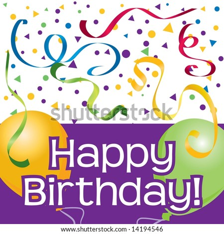 clipart birthday balloons. stock vector : Happy Birthday