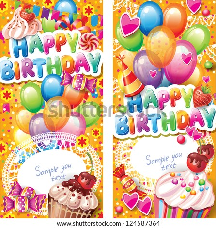 Happy birthday vertical cards