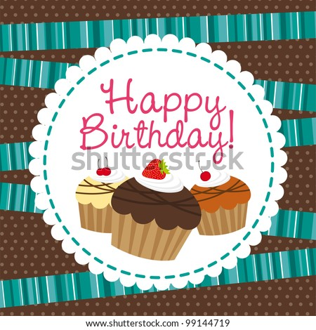 Happy Birthday Cake Background Images Happy Birthday With Cup Cake